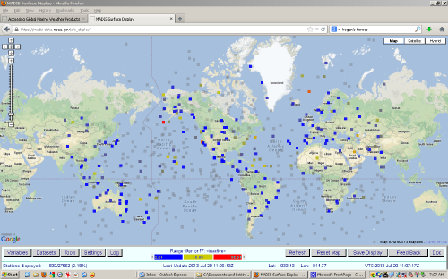 Accessing Global Marine Weather Products